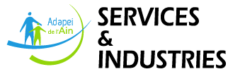 Adapei services industries Mobile Logo
